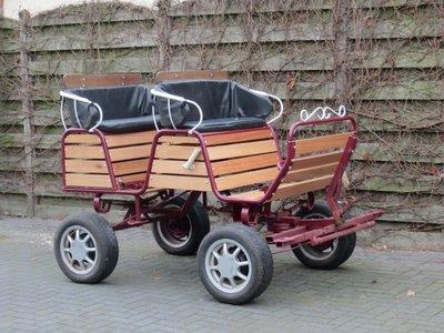 Recreatiewagen pony/cob 1/2sp geremd