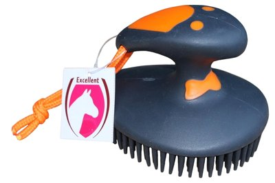 Fun Rubber Nop Borstel Orange/Black